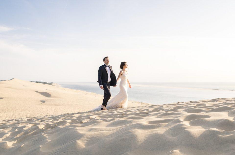 Mariés à la Dune du Pilat